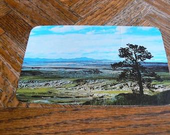 Vintage Postcard from Laramie Peak, Wyoming 70's with stamp