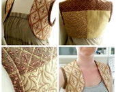 Shrug Style Vest Perfect for Corsets Ren Faire Dresses Formal Strapless Cosplay Reversible