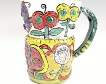 Fun flowers mug