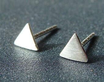 Tiny Triangle Studs Super Tiny Triangle Post Earrings Symbol Studs Sterling Silver Stud Earrings Triangle Studs