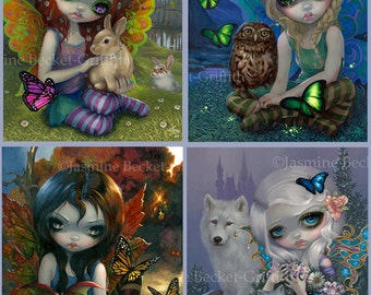The Four Seasons - set of FOUR BIG art prints 12x16 by Jasmine Becket-Griffith SIGNED Spring Summer Autumn Winter