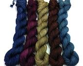 Guthrie Gradient Yarn Pack- 5 Colors, 435 yds/100g Superwash Merino 4 ply Sock Fingering Weight