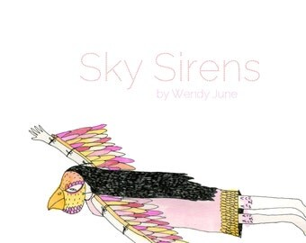 Zine: Sky Sirens  a Zine about Ladies Who Fly with their Pets