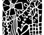 "Collage 6x6"" Stencil"
