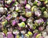Diabolo (Pellet) Beads Crystal Magic Orchid 4x6mm 50pcs