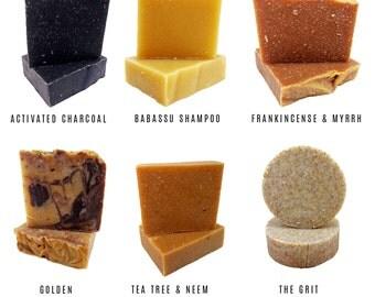 Mysterious 6 Soap Bundle - Natural Soap - Vegan Soap - Cold Processed Soap - Handmade Soap - Apothecary Soap - Essential Oils - 6 Bar Set