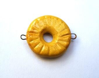 Porcelain Ceramic Oval Bracelet Bars Cream