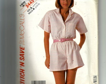 McCall's Misses' Shirt and Shorts Pattern 2443