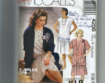 McCall's Misses' Dress and Unlined Jacket Pattern 4256