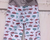35% OFF CRAZY SALE- Whimsies Toddler Loungers-Cotton-Transportation-2T