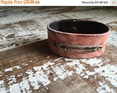 40% FLASH SALE- Arrow Leather Cuff-Painted Leather Cuff