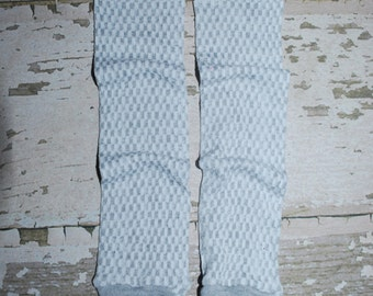 light grey, checker, baby leg warmers, leg wear, legwarmers, girl leggings, baby tights, holiday outfit, baby clothes, gray leg warmers