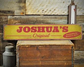 Custom Original Brewed Beer Sign Rustic Hand Made Vintage Wooden Sign Ens1001169