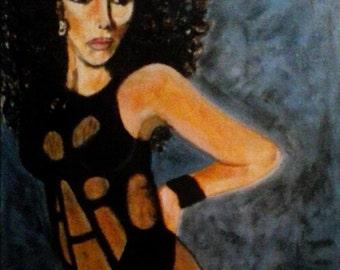 Cher, An Original Oil Painting, cher, Origional Art, Figure Painting, music