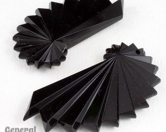 55mm Black Deco Spiral Drop (2 Pcs) #4962