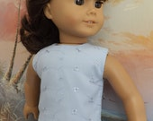 American Girl Doll Clothes Light Blue Cotton Eyelet Modified Crop Top NEW Style