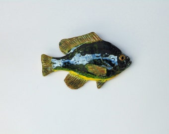 Bluegill ceramic fsh art decorative wall hanging