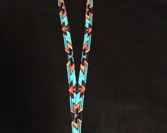 Lanyard with Native American print