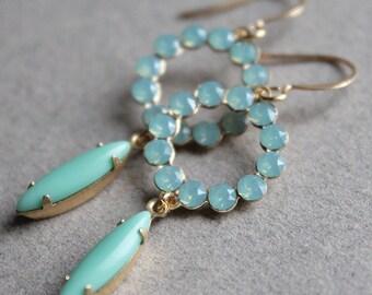 Harlowe Earrings - Vintage Swarovski Crystal and Glass