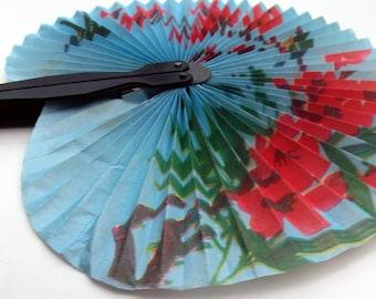 Vintage Black Plastic Fan - Chinese