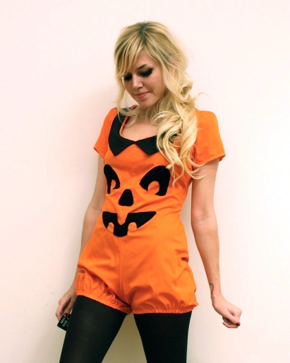 Pumpkin Playsuit MADE TO ORDER