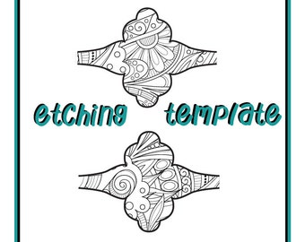 Pattern for Etching Saddle Style Rings Digital Download DEP-1a