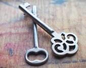 Ornate Antique Skeleton Keys - Victorian Duo