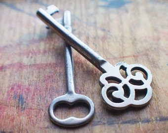 Ornate Antique Skeleton Keys - Victorian Duo  // End Of Winter SALE - 10% Off - Coupon Code SAVE10