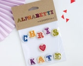 Gift ideas for valentines day, personalised magnets