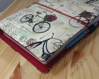 Bicycle  Travelers Notebook  Fauxdori  internal pockets pen loop