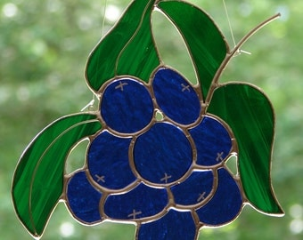 Stained Glass Blueberries