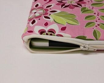 "Women's MacBook Air Case 11.6"" Toshiba Kirabook Cover 12"" MacBook Pro Sleeve 13"" 15.4"" Chromebook Laptop Sleeve - Garden Bouquet"