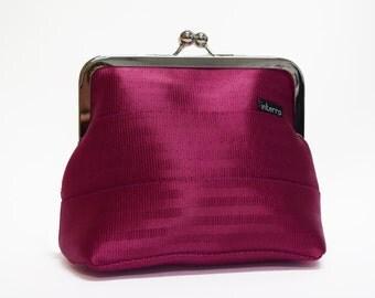 Pink Seatbelt Clutch Purse