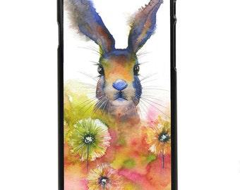 "Phone Case ""Peekaboo"" - Rabbit, Bunny, Cute, Cuddly, Cottontail Rabbit, Flowers, Spring, Animal By Olga Cuttell"