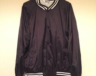 Vintage varsity jacket black and white