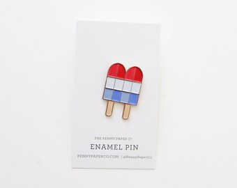 Retro Rocket Popsicle, Enamel Pin