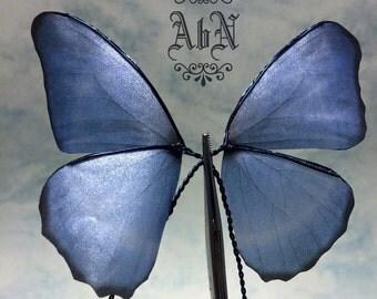Fairy Wings -  Blue Butterfly wings 594 -  For OOAK Art Dolls