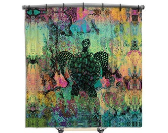 Sea Turtle Shower Curtain Shower Curtain Abstract Art Shower Curtains Fabric Shower