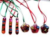 Handmade Glass Christmas Tree Baubles by Leandra Holder - Dichroic Glass, Christmas Decorations, Christmas Ornaments