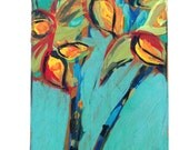 Original acrylic painting, fine art wall decor, impressionist painting, floral abstract painting, hand painted art, irises