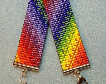 Rainbow striped bracelet