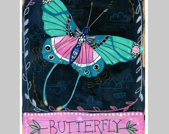 Animal Totem Print - Butterfly