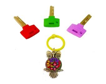 Owl keychain, Owl key ring ,Owl  Key,Owl, accessories, Keychain,cute keychain ,personalized keychain,keychain gift ,Keychain ,metal keychain