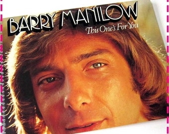 SALE 40% OFF--- BARRY Manilow This One's For You - Recycled / Upcycled Retro Record Album Cover Journal Notebook - Eco-Friendly - Vintage Ci