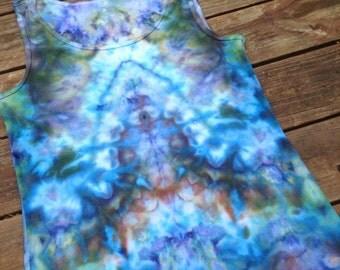 Womens 3X XXXL Tank Top Tie Dye Tee Hippie Shirt Summer Top