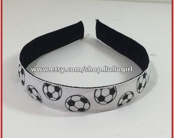 Soccer Headband - Soccer Balls Headband - Non Slip Headband - Adjustable Headband - Headache Free Headband - One Size Fits All - 3 for 20