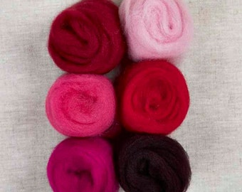 Roving 6-Packs for Felting or Spinning