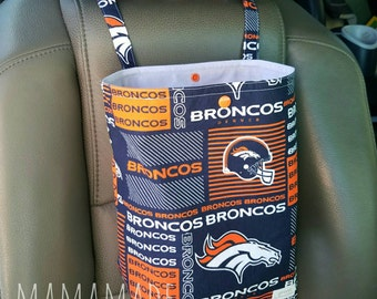 Denver Football - Reusable Auto Trash Bag from green by mamamade
