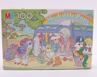 My Little Pony Show Stable Vintage Jigsaw Puzzle 100% Complete! G1   ~ The Pink Room ~ 161015