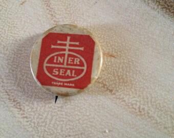 Vintage Nabisco Bakery Iner Seal Pinback Button Whitehead & Hoag Co
